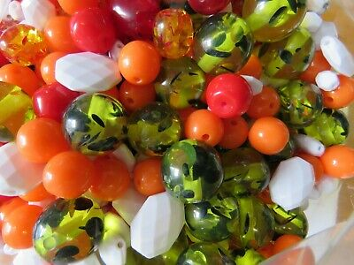 Wholesale & Job Lot A kg Of Mixed Acrylic Beads Bright Sparkly New Arrive