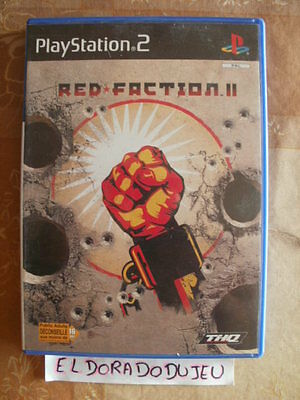 """ELDORADODUJEU >>> RED FACTION II Pour PLAYSTATION 2 PS2 VF """"SN"""" CD COMME NEUF"""