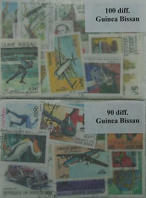 Guinea-Bissau, 190 stamps, all different (ww096)