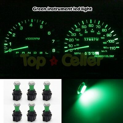 6 PC74 Twist Sockets 73 74 Green T5 Instrument Panel Cluster Dash Led Light Bulb