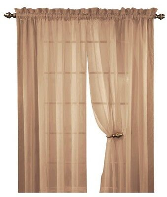 Sheer Voile Window Room Curtain Panel, 20 Colors, Quality Sheer ...