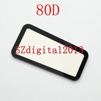 NEW Top Outer LCD Display Window Glass Cover For Canon EOS 80D Digital Camera