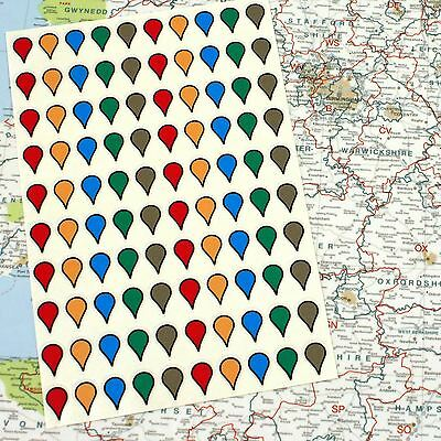 Map Stickers, Multiple Colours - Gift