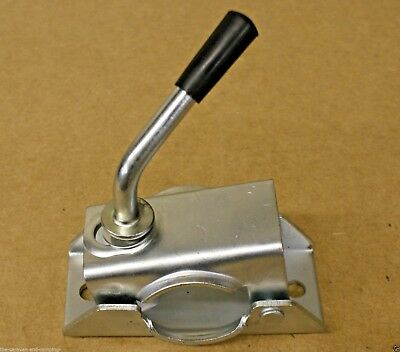 48mm Jockey Wheel Clamp and Handle  - Caravan / Trailer