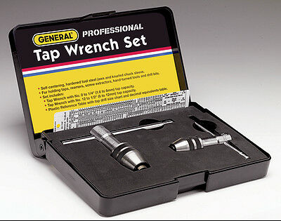 General Tools Plain Tap Wrench Set 167 with Sliding T-Handles