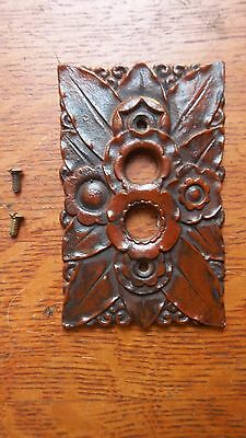 """New """"Bay Laurel"""" Push Button Light Switch Plate"""
