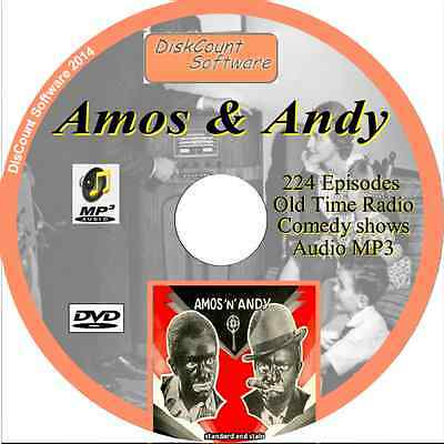 Amos 'n' Andy   OTR - 224 Old Time Radio Shows -   MP3 DVD Comedy