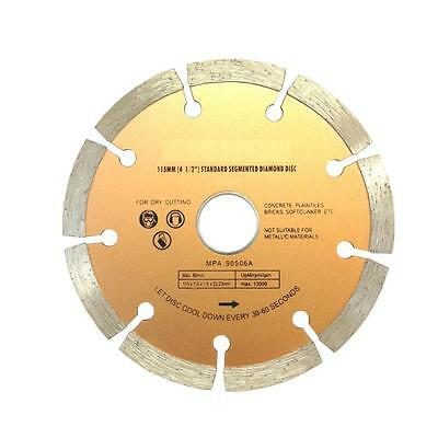 "115mm Segmented Diamond Cutting Disc 4.5"" Dry Cutting Angle Grinder Blade"