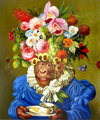 "+++100% handcrafts art oil painting on canvas :The monkeys  20""x24"" inch"