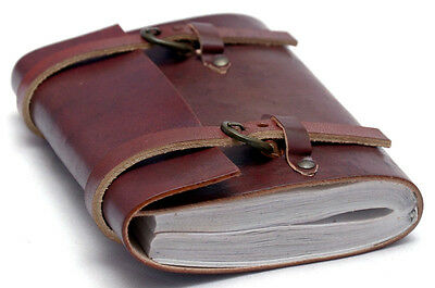 Handmade Diary Leather Joural Buckle Sketchbook Notebook Travel Thought Book 6x5
