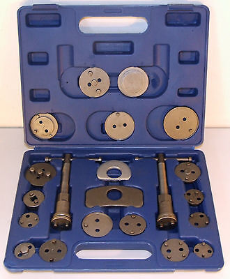 BRAKE CALIPER PISTON REWIND WIND BACK TOOL KIT 22 PIECES, car service tool