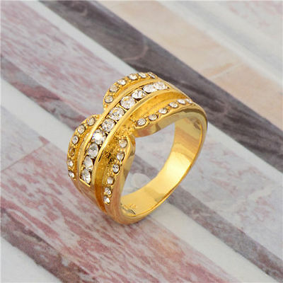 9k Gold Filled Double Horse Shoe Ring - Various Sizes - 9ct GF Luck Lucky Ring