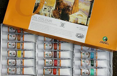Marie's 18Colors x 12ml Oil Painting professional -special sale on now AU$ 7.99