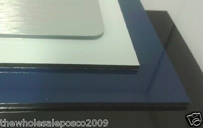 Sheets Of Aluminium Composite White Black Blue & Brushed Finish Colours A4 & A3