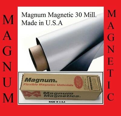 "24"" width x8Ft ROLL 30 Mil Blank Magnetic Sign Sheet Magnum Magnetic Made in USA"