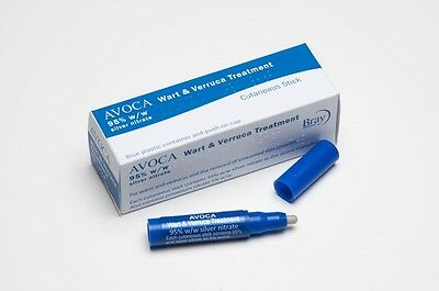 Avoca Wart Verruca Treatment (Human) Silver Nitrate 95% Caustic Pencil Full kit