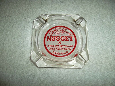 Dick Graves Nugget Sparks Nevada Ashtray Hotel Casino Las Vegas Clear