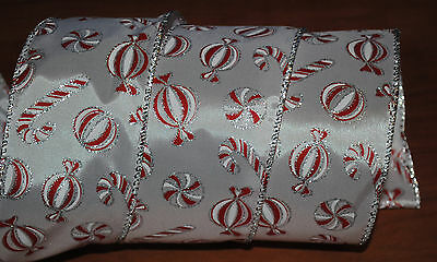 Wired Ribbon~Christmas Candy Cane~Peppermint~Craft~Bow