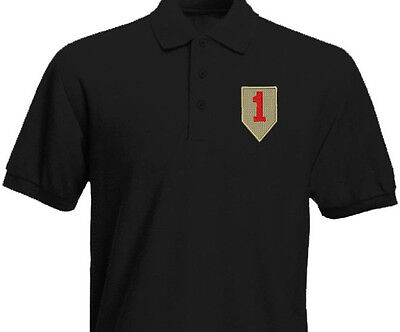 "US Army The 1st Infantry Division ""Big Red One"" Command Embroidered Polo Shirt"