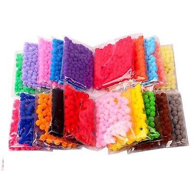 SOFT POMPOMS POM POMS XL 2 cm mixed colors x10 best quality x100 bobbles x50