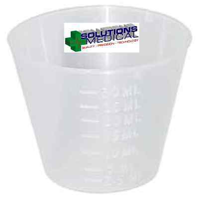 100 Medicine Measure Cups 30Ml Clear First Aid Gallipots Disposable