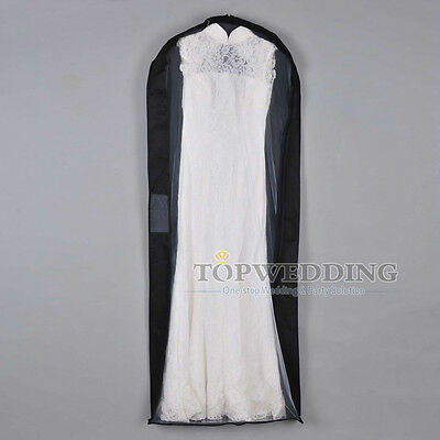 Black Bridal Garment Storage Bags Dress Suit Party Gown Cloth Protective Cover