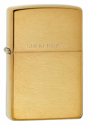 Zippo 204 solid brushed brass Lighter