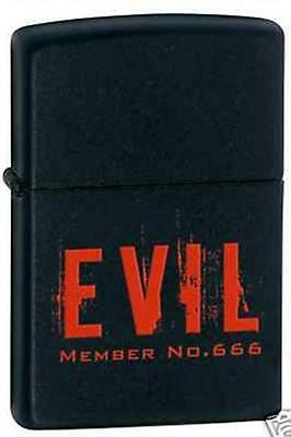 Zippo 6388 evil member number 666 DISCONTINUED - Rare Lighter