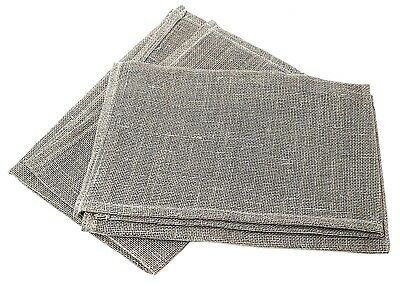 Window Cleaners Scrim Pack of 2 Professional Quality Linen Scrims 40cm Unwashed