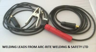 WELDING LEAD SET 200 AMP Electrode Holder & Earth Clamp 5 METRE