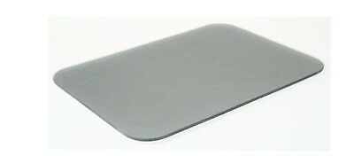 Tuftop Silver Worktop Saver Protect Chopping Board Trivet Textured Glass 30x22cm