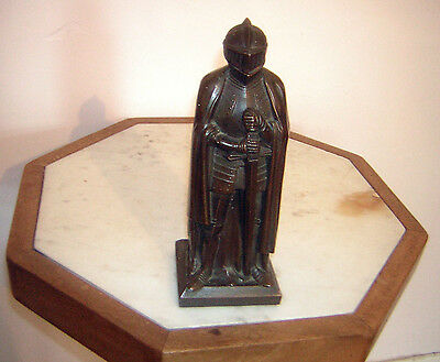 Deco Style Medieval Knight Table Cigarette Lighter 34 Cm Tall - Possibly Bronze