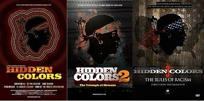 HIDDEN COLORS COLLECTION PART 1, 2 & 3 THE RULES OF RACISM SPECIAL 3 DVD SET