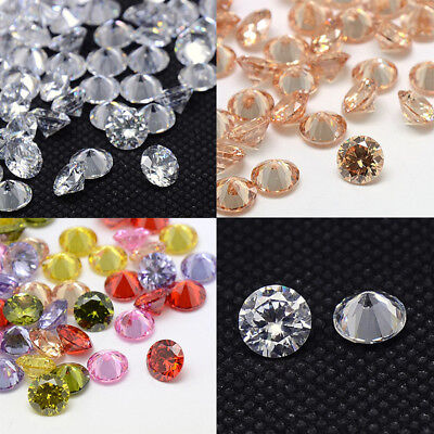 DIY Grade A Rivoli Xilion Tapered Shaped Faceted Cubic Zirconia Cabochons Beads
