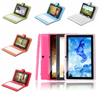 """iRulu eXpro X1 7"""" HD Tablet PC 8GB Android 4.2 Dual Core Cam W/Keyboard Case New"""