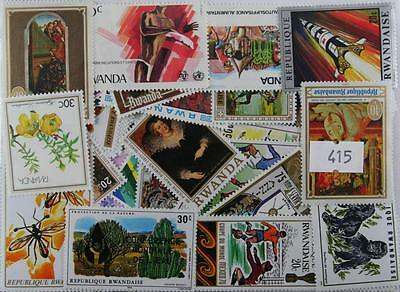 Rwanda. 200 stamps, all different (415)