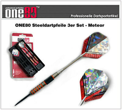 ONE80 Profi Steel Dart Dartpfeile 90% Tungsten - METEOR