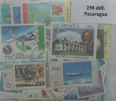 Nicaragua,  250 stamps, all different (ww123)
