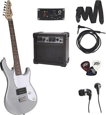 Peavey Rockmaster Bundle 6-String Full-Size Electric Guitar and Amp