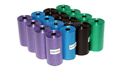 800 DOG PET WASTE POOP BAGS PICK UP YOUR COLOR REFILL ROLLS With FREE DISPENSER