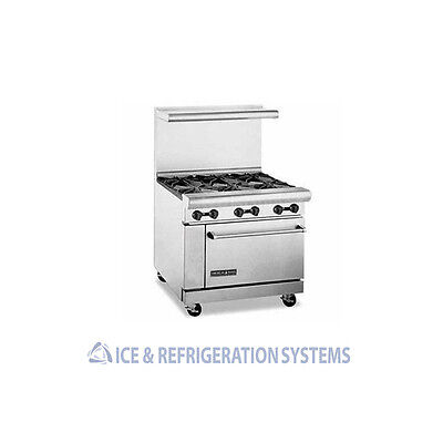 "American Range 36"" 6 Burner Commercial Natural Gas Or Propane Range W/ Oven Ar-6"