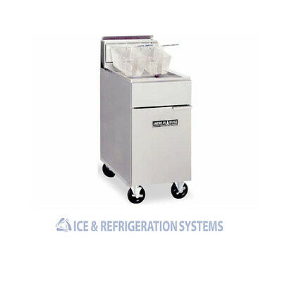 American Range Commercial Natural Gas Or Propane Deep Fryer  35-50Lbs Acfc-4