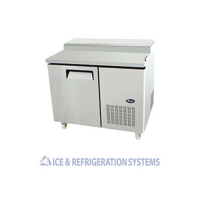 Atosa Single Door Commercial Pizza Prep Table Refrigerator Cooler Mpf8201