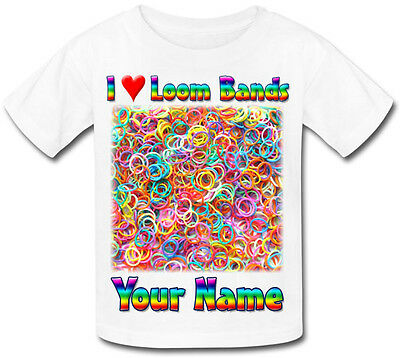 Loom Bands Personalised Boy's/Girl's Sublimation T-Shirt - Named Kid's Gift