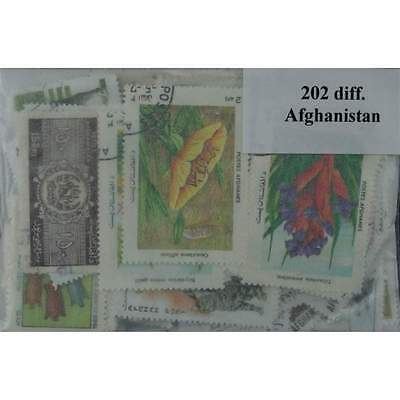 Afghanistan 202 stamps (ww070a)