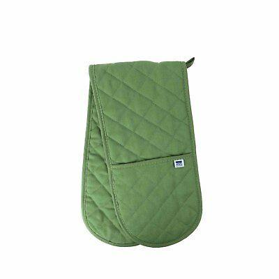 Now Designs Verde Green Double Oven Glove Mitt Quilted Insulated 100% Cotton New