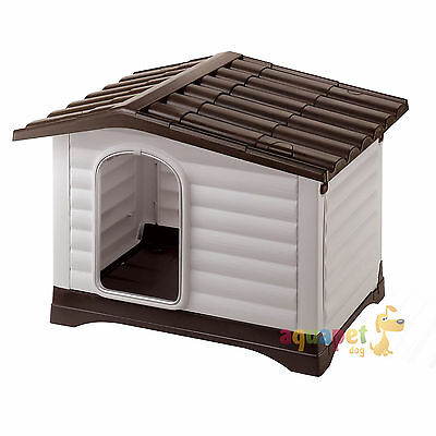 Ferplast Dogvilla Outdoor Dog Kennel Shelter Home 3 Sizes optional Door, Cushion