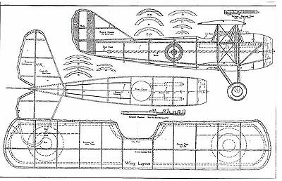 5 Rubber Band Model Airplane Plans of Allied WW I fighters SET #4