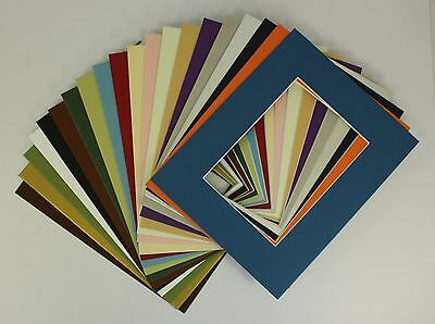 Set of 20 8x10 Photo / Picture Mats for 5x7 with Backing and Bag