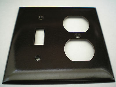 Pass and Seymour BROWN , 2-GANG Switch Plate Cover, TP18-BK, TOGGLE, DUPLEX